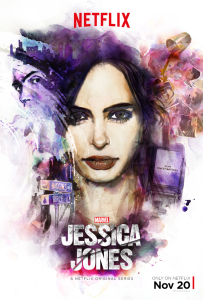 Netflix series Marvel's Jessica Jones stars Krysten Ritter and David Tenant.